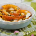 Kürbis im Ofen überbacken mit Minze