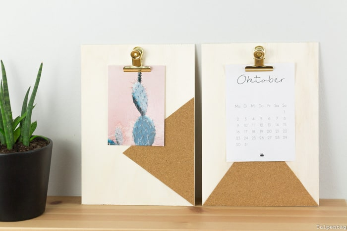 Klemmbrett mit Kork DIY selbstgemacht Büro Deko