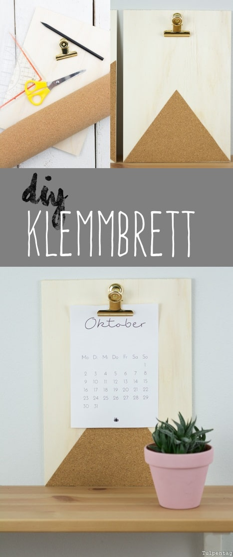 diy klemmbrett mit kork tulpentag der blog. Black Bedroom Furniture Sets. Home Design Ideas