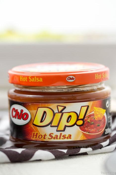 Chio Tortillas Chips überbacken Hähnchen Hähnchenbrust Avocado Salsa