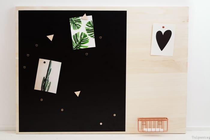 Memoboard selbermachen Pinnwand Magnetwand Tafelfolie Magnetfolie DIY