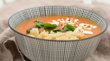 Rote-Linsensuppe-Tomatensuppe-Couscous-Feta-3
