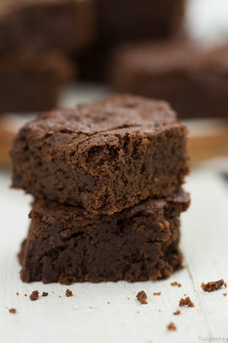 Brownies ohne Ei Schokolade backen Rezept vegan