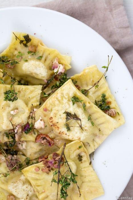 Ravioli selber machen Rezept vegetarisch Bree Wein