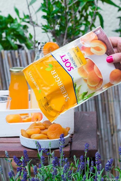 Seeberger Soft-Aprikosen Snack Limonade Sirup Aprikosen-Sirup