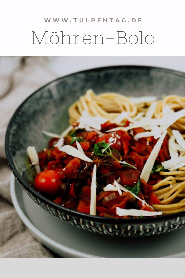 Rezept für vegetarische Bolognese mit Möhren #schnell #einfach #rezept #vegetarisch