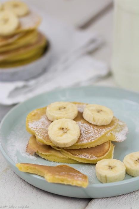 Pfannkuchen aus Dinkelmehl #klein #schnell #rezept #süß