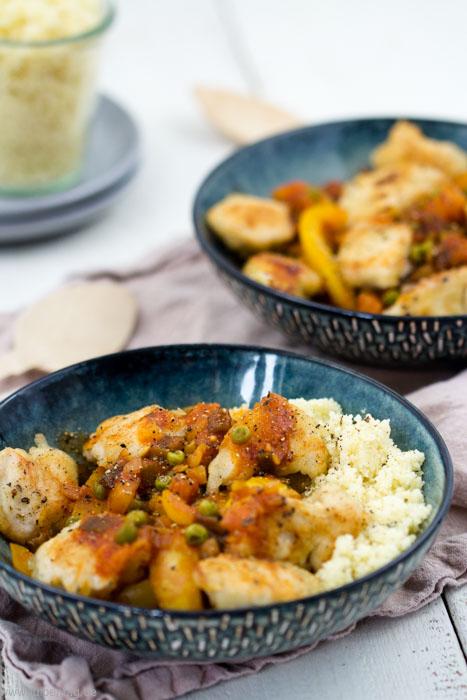 Hähnchen süß-sauer mit Couscous #rezept #hähnchen #schnell #süßsauer #selbstgemacht #abendessen #mittagessen