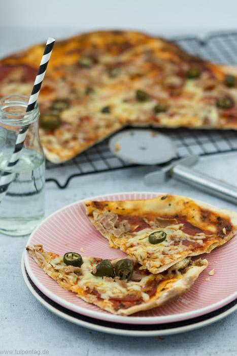 Schneller Flammkuchen im Pizza-Style