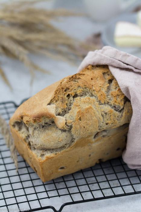Schnelles Brot mit Nüssen ohne Gehen #hefe #brot #rezept #dinkelmehl #schnell #einfach